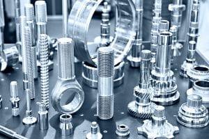 Samples of stainless steel metal parts