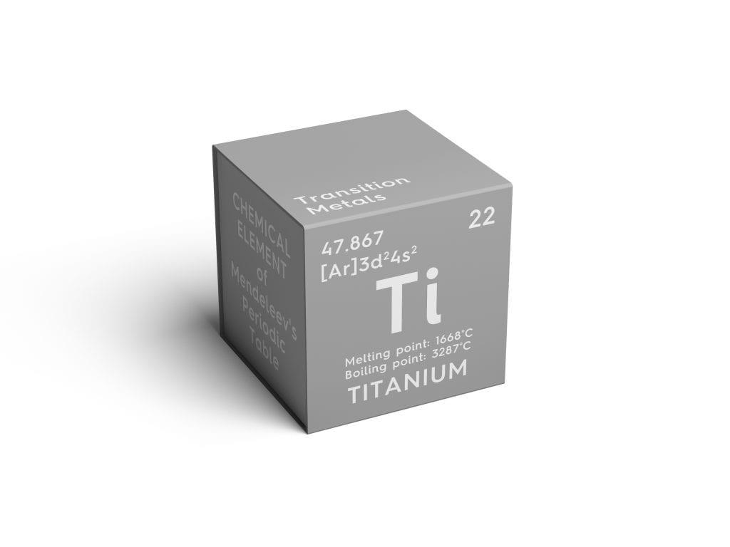 Mendeleev's Periodic Table titanium cube